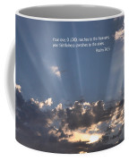 Scripture And Picture Psalm 36 5 Coffee Mug