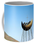 Sculpture Called To The Skellig By Eamon Doherty At Cahirciveen County Kerry Ireland Christian Monks Coffee Mug