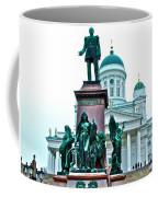 Sculpture Of Alexander II In Cathedral Of Helsinki-finland Coffee Mug