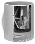 Sculpture On State Street In Black And White  Coffee Mug