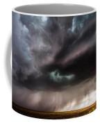 Sculpture - Turquoise Colored Storm Over Kansas Plains Coffee Mug