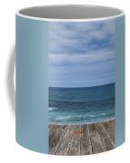 Sea And Wooden Platform Coffee Mug