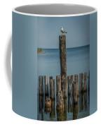 Sea Gull On A Piling Coffee Mug