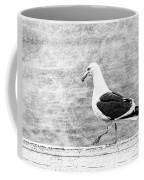 Sea Gull On Wharf Patrol Coffee Mug