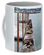 Sea Lions Sleeping Coffee Mug by Robert Bales
