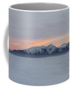 Sea Of Fog And Snow-capped Mountain In Sunset Coffee Mug