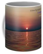 Sea Quote - Cousteau Coffee Mug