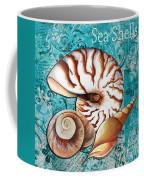 Sea Shells Original Coastal Painting Colorful Nautilus Art By Megan Duncanson Coffee Mug by Megan Duncanson