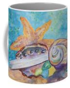 Sea Star-abalone-snail Shell Coffee Mug
