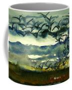 Seabirds Rising From The Marsh 2-27-15  Coffee Mug