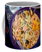 Seafood Fetticinni Alfredo At Cafe Cups Restaurant In Homer-ak   Coffee Mug