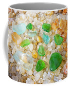 Seaglass Green Art Prints Agates Beach Garden Coffee Mug