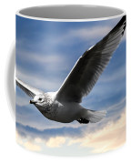 Seagull And Clock Tower Coffee Mug by Bob Orsillo
