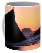 Seagull And Sunset Coffee Mug