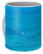 Seagull Cruising Over Azure Blue Sea Coffee Mug