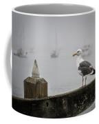 Seagull In Fog 1 Coffee Mug