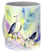 Seagulls In Calpe In Spain Coffee Mug
