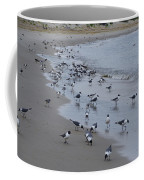 Seagulls On The Delaware Bay Coffee Mug by Bill Cannon