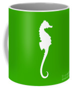 Seahorse In Green And White Coffee Mug