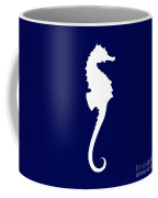 Seahorse In Navy And White Coffee Mug