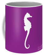 Seahorse In Purple And White Coffee Mug