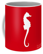 Seahorse In Red And White Coffee Mug