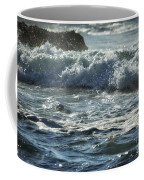Seal Surfing Waves Coffee Mug
