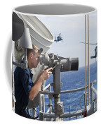 Seaman Apprentice Stands Watch Aboard Coffee Mug