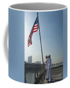 Seamen Participate In Morning Colors Coffee Mug