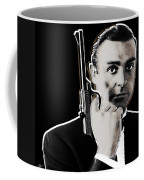 Sean Connery James Bond Square Coffee Mug by Tony Rubino