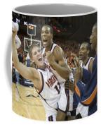 Sean Singletary And Lars Mikalauskas Celebrate Uva Win Over Arizona Coffee Mug