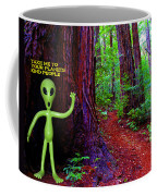 Searching For Friends Among The Redwoods Coffee Mug