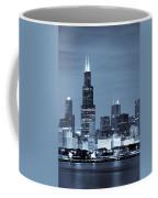 Sears Tower In Blue Coffee Mug