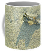 Seashell And Shadow On Sand Coffee Mug