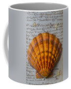 Seashell And Words Coffee Mug