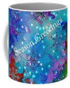 Season Greetings - Snowflakes Coffee Mug