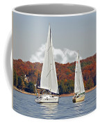 Seasonal Sailing Coffee Mug by Susan Leggett