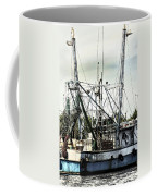 Seasoned Fishing Boat Coffee Mug by Debra Forand