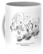 'season's Greetings' Looks O.k. To Me. Let's Run Coffee Mug