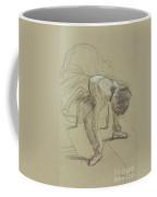 Seated Dancer Adjusting Her Shoes Coffee Mug