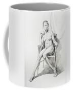 Seated Nude Model Study Coffee Mug