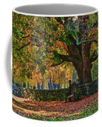 Seated Under The Fall Colors Coffee Mug