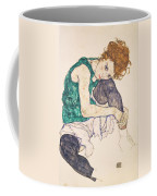 Seated Woman With Legs Drawn Up. Adele Herms Coffee Mug