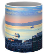 Seattle And Elliott Bay Coffee Mug
