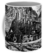 Seattle City Light Train In Bw Coffee Mug