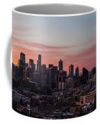 Seattle Cityscape Sunrise Coffee Mug