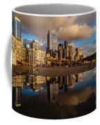 Seattle Pier Sunset Clouds Coffee Mug