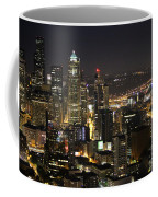 Seattle Skyline At Night Coffee Mug
