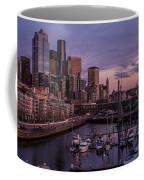 Seattle Skyline Bell Harbor Dusk Coffee Mug