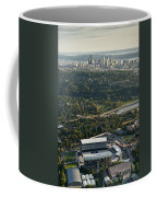 Seattle Skyline With Aerial View Of The Newly Renovated Husky St Coffee Mug
